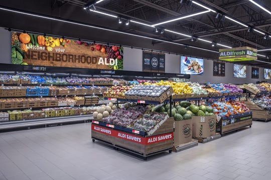 Aldi's supermarkets are known for their rustic displays and private labels. A new location is planned for Foster Village Shopping Center in Bergenfield.