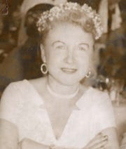 Mary Bacon is shown in this 1954 photograph.