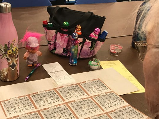 Players generally buy more than one book. They tape them together. Games are delineated into different patterns and only unshaded areas are needed to be filled before you can cry bingo.