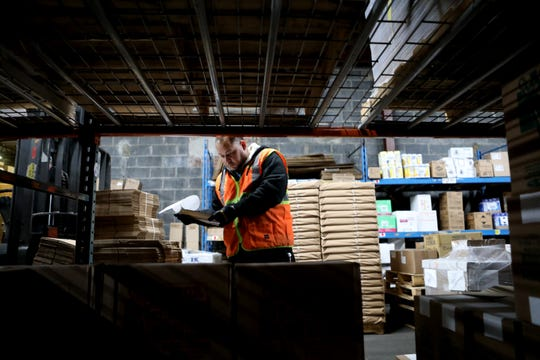 Jose Jimenez, of. Prospect Park, works in the warehouse, in Paterson. Bacon & Graham, Inc. started 80 years ago. Tuesday, November 26, 2019