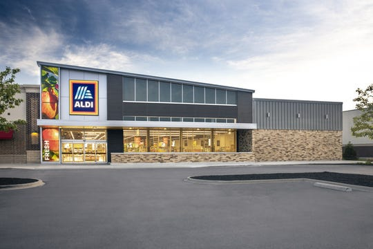 A sample rendering of an Aldi supermarket exterior. They are expected to open a branch in Ramsey Square on Route 17 North next year.