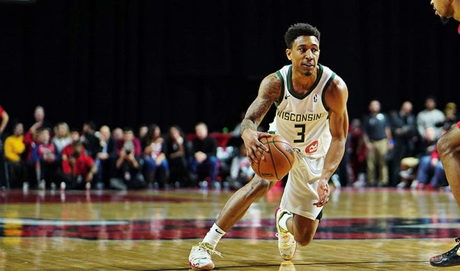 The Wisconsin Herd are atop the G League Eastern Conference at 7-1. Jaylen Adams (3) is averaging 18.3 points and a team-high 6.2 assists per game.