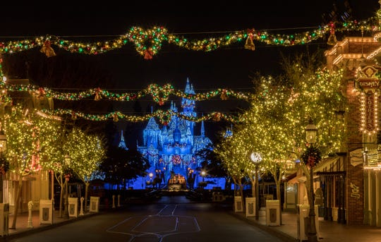 The Disneyland Resort transforms into the Merriest Place on Earth for the holiday season. Among the merriment at Disneyland Park, Sleeping Beauty's Winter Castle shines brightly with the glow of the shimmering icicles and twinkling lights, enchanting guests from day to night.