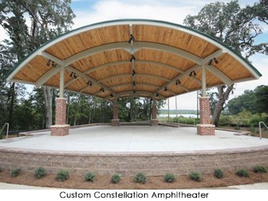 A potential design for what a downtown Milton amphitheater could look like.