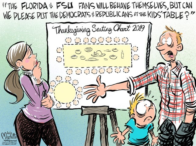 Turkey Day Toons A Collection Of Andy Marlette Thanksgiving Cartoons