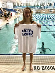 Milton High sophomore Emma Wortman is the latest PNJ Athlete of the Week after a second place finish in the 100-meter breast stroke at the Class 3A FHSAA state swimming meet.
