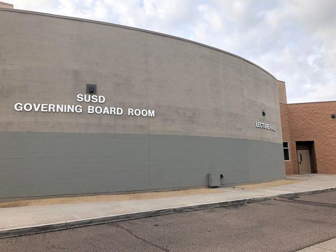 The Scottsdale Unified School District Governing Board room near Coronado High School in Scottsdale.