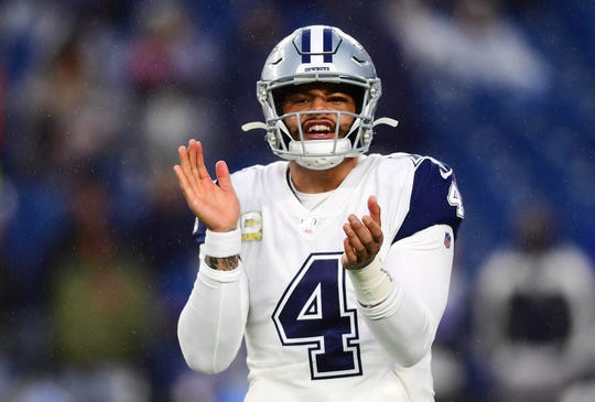 Dak Prescott and the Dallas Cowboys play host to the Buffalo Bills on Thursday afternoon.