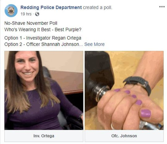 RPD's female employees polled Facebook fans to see who wore purple better.