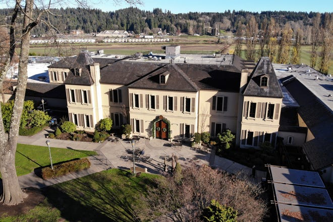 The main building of the Chateau Ste. Michelle winery in Woodinville, Washington.