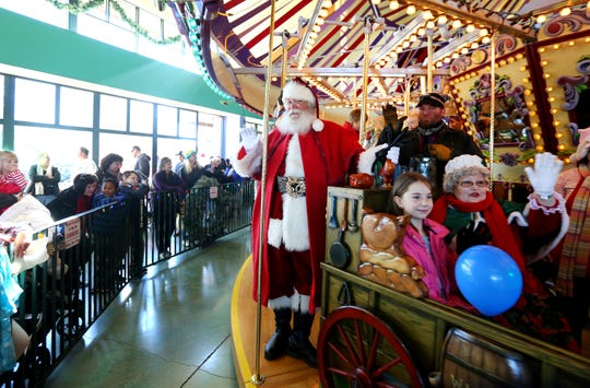Enjoy free rides on Salem's Riverfront Carousel with a suggested food donation on Christmas Day.