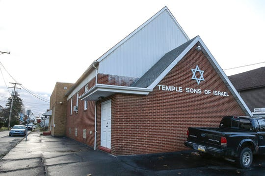 This Nov. 8, 2019 photo shows Temple Sons of Israel, in DuBois Pa.  The small synagogue serves a very large region where the Jewish population is declining.