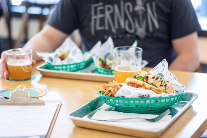 Food and drinks at Fernson Downtown. Image courtesy of Evan Richards at Fernson Brewing Company.