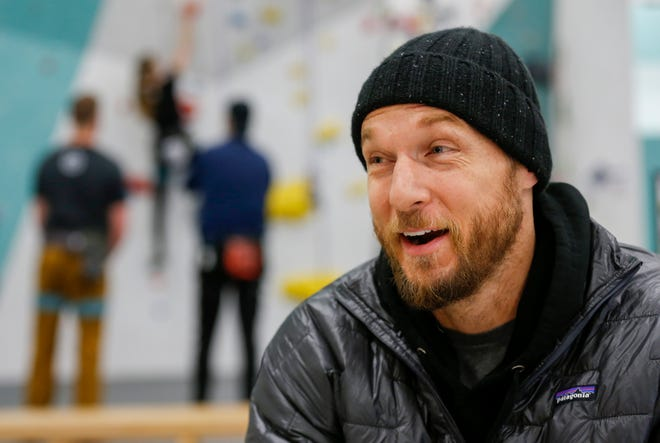 Jason Walsh talks about growing up in Springfield and his path to becoming a personal trainer to the stars in Los Angeles during an interview at the Zenith Climbing Center.