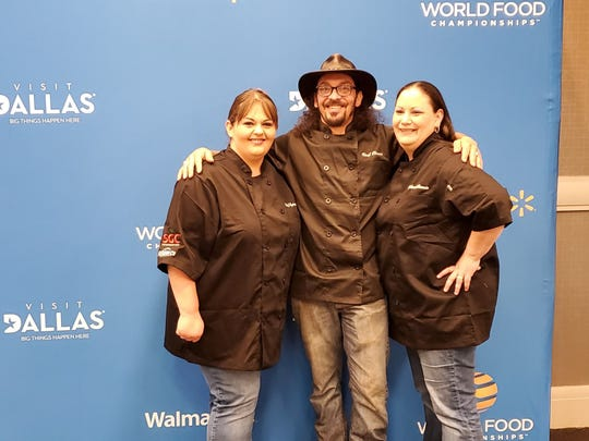 Kymberlee Matney-Schmitz, Aaron Rosario and Amanda Chavarria competed in the World Food Championships in October.