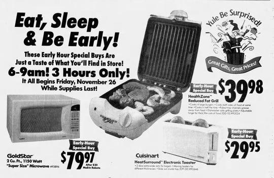 Clipping of a Lowe's advertisement from the Nov. 25, 1999 edition of The News Leader.