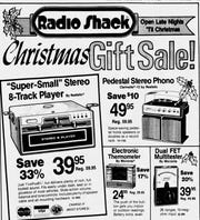 Clipping of a Radio Shack advertisement from the Nov. 21, 1979 edition of The News Leader.