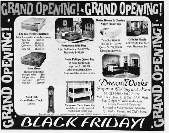 Clipping of a Dream Works advertisement from the Nov. 27, 2009 edition of The News Leader.
