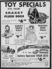 Clipping of a Peoples Drug Stores advertisement from the Nov. 25, 1959 edition of The News Leader.