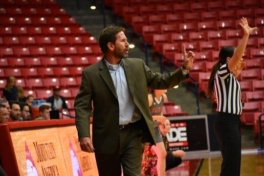DSU women's coach DJ Gustin.
