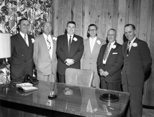 Employees of the Commonwealth Mortgage Company - Tallahassee, Florida. Commonwealth president and former Tallahassee City Commissioner and Mayor Lee Everhart, third from left.