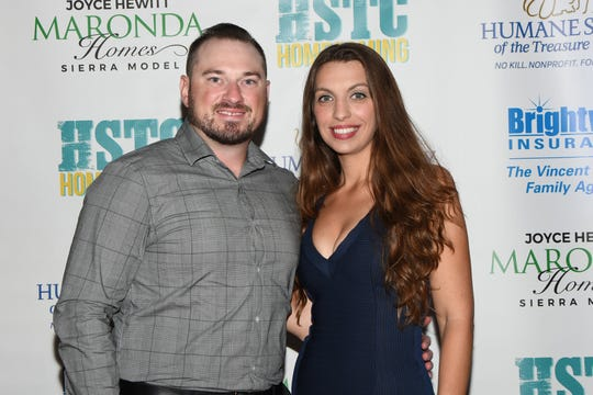 Matte and Kristen Barile at the HSTC Homecoming Party on Nov. 16, 2019, in Stuart.