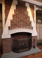 An original fireplace was updates in the great hall of the Crawford Mansion Community Center, which recently underwent a massive renovation, Nov. 26, 2019 in Rye Brook. The updated mansion with an elevator is the latest addition to Crawford Park's grounds which includes a renovated pavilion, playground, and sensory garden.