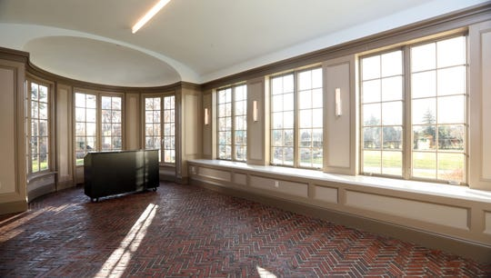 The solarium at the Crawford Mansion Community Center, which recently underwent a massive renovation, Nov. 26, 2019 in Rye Brook. The updated mansion with an elevator is the latest addition to Crawford Park's grounds which includes a renovated pavilion, playground, and sensory garden.