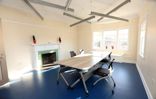 The arts and crafts room at the Crawford Mansion Community Center, which recently underwent a massive renovation, Nov. 26, 2019 in Rye Brook. The updated mansion with an elevator is the latest addition to Crawford Park's grounds which includes a renovated pavilion, playground, and sensory garden.