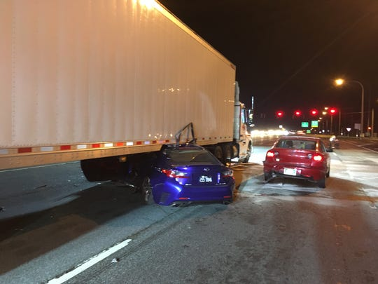 A serious crash involving a tractor trailer on Concord Pike at Murphy Rd Tuesday night.