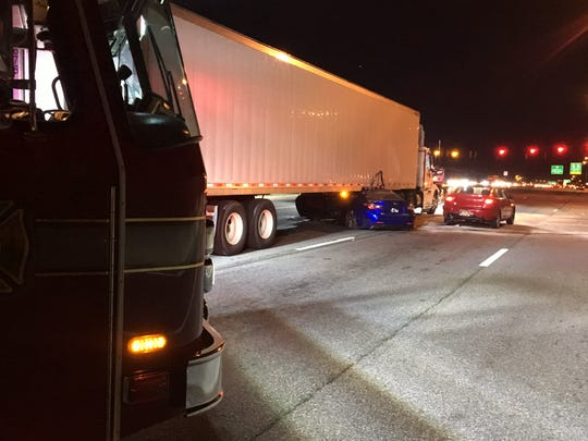 A 35-year-old Wilmington man was killed in a Tuesday evening wreck involving a tractor-trailer on Concord Pike (U.S. 202), Delaware State Police said.