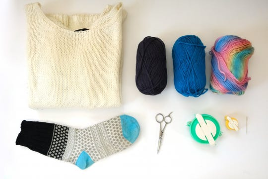 How to make DIY holiday stockings using old clothes