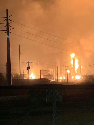 A massive explosion at a chemical plant in Port Neches, Texas, on Nov. 27, 2019, sent a large fireball into the sky, media reports said, triggering a mandatory evacuation.
