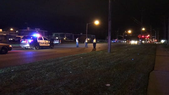 Corpus Christi police shut down a portion of Weber Road after a crash near Carroll High School.