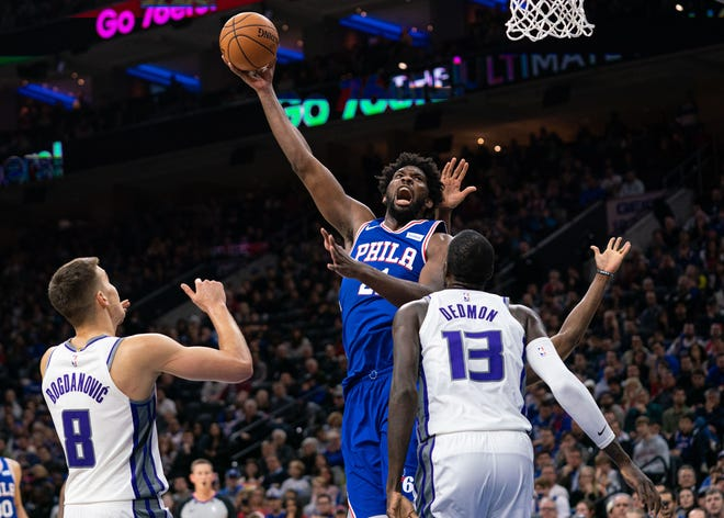 Joel Embiid had a game-high 33 points two nights after the Toronto Raptors held him without a score.