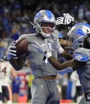 Marvin Jones celebrates his first-quarter touchdown.