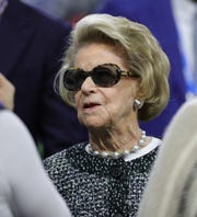 Detroit Lions owner Martha Firestone Ford on the sideline before action against the Chicago Bears, Sunday, November 28, 2019 at Ford Field in Detroit,  Mich.