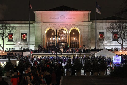Thousands of holiday revelers flocked to Detroits Midtown district during the 44th Annual Noel Night on Saturday, December 3, 2016. The event featured nearly 100 venues participating with all ages activities, open houses, special performances and holiday gift shopping.