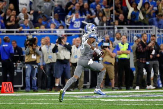 Detroit Lions wide receiver Kenny Golladay is off to the races on a 75-yard TD reception.