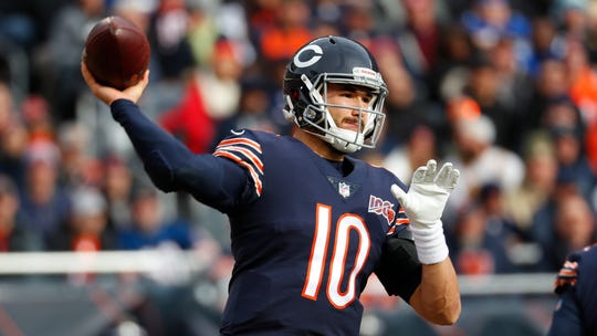 Mitchell Trubisky's eight touchdowns are the most he's thrown against any team, although his three interceptions are also tied for second.