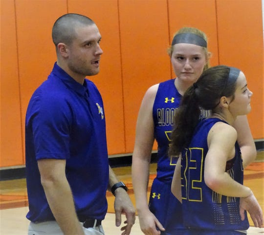 Former Bloom-Carroll standout A.J. Ireland coaches his first game as the new head coach of the Bloom-Carroll girls basketball team.
