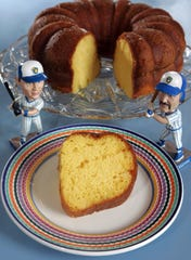 A Harvey Wallbanger cake, inspired by the cocktail of the same name.