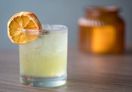 The Harvey Wallbanger cocktail consists of Wheatley vodka, orange, Galliano, bittercube cherry bark vanilla bitters.