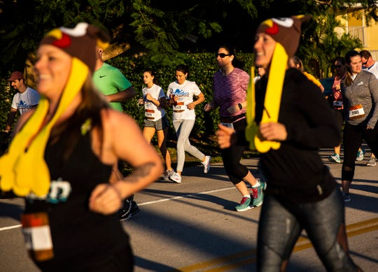 About 1,990 racers participate in the 40th Annual Turkey Trot 5K race on Thursday, Nov. 28, 2019, in Cape Coral.