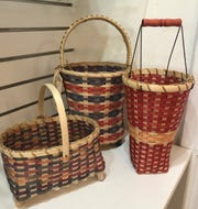 Naples artist Rinny Ryan's baskets hold bottles of wine, bath supplies or simply create a look. They range from $25 to $35 at the Center for the Visual Arts Bonita Springs.