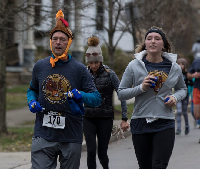 More than 2,000 runners and walkers turned out for the annual Granville Turkey Trot Thanksgiving morning of 2019. The 5K run raises money for the Licking County Food Pantry and this year, unable to gather because of the pandemic, is still aiming to help the pantry via donations.