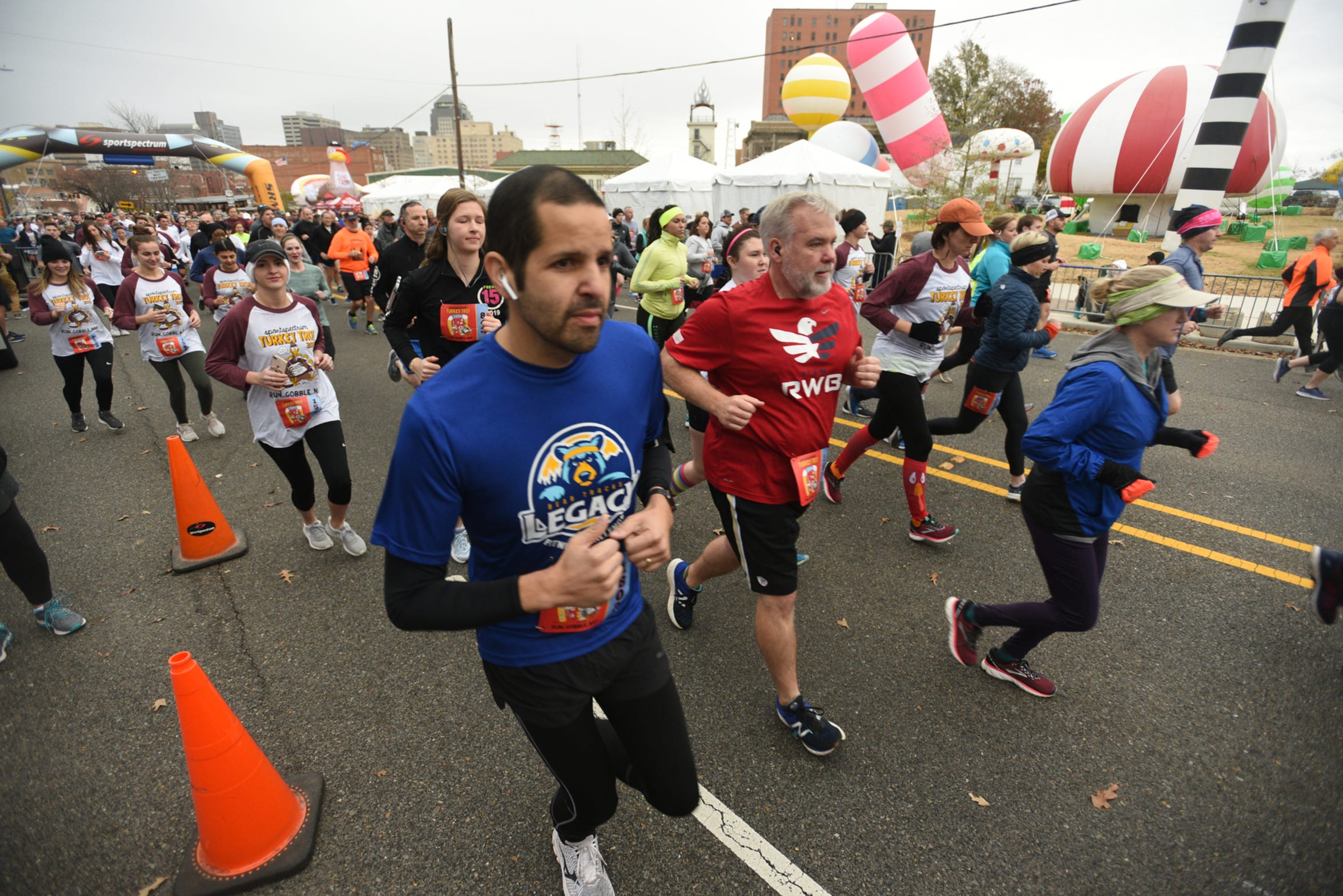 Sportspectrum's Turkey Trot in downtown Shreveport on Thanksgiving day.