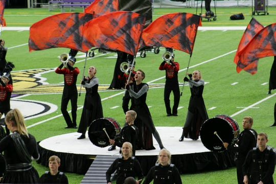 The Brandon Valley marching band performs at the Youth In Music Competition earlier this year in Minneapolis.
