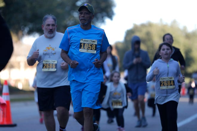 Thousands gathered in Southwood for the annual Thanksgiving Day Turkey Trot on Thursday, Nov. 28, 2019.