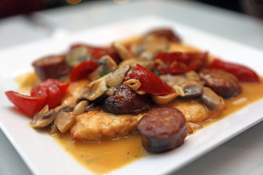 Chicken Giovanni from Giovanni's in Yonkers is made with sausage, vinegar, red peppers and mushrooms. The restaurant is family-owned and operated.